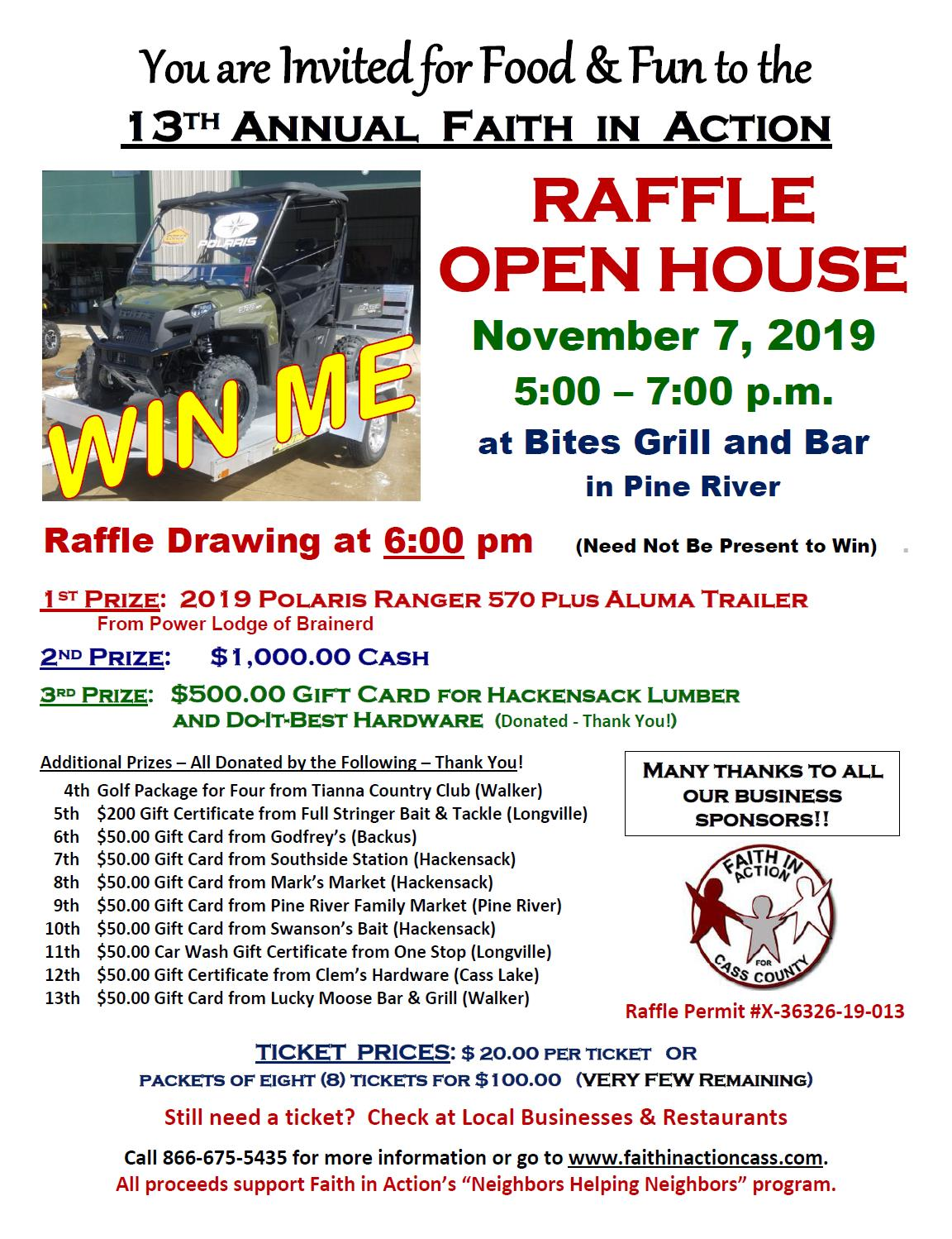 2019 FIA Raffle Open House Poster